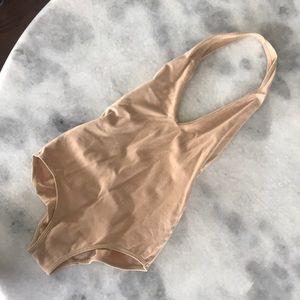 American apparel nude bodysuit XS